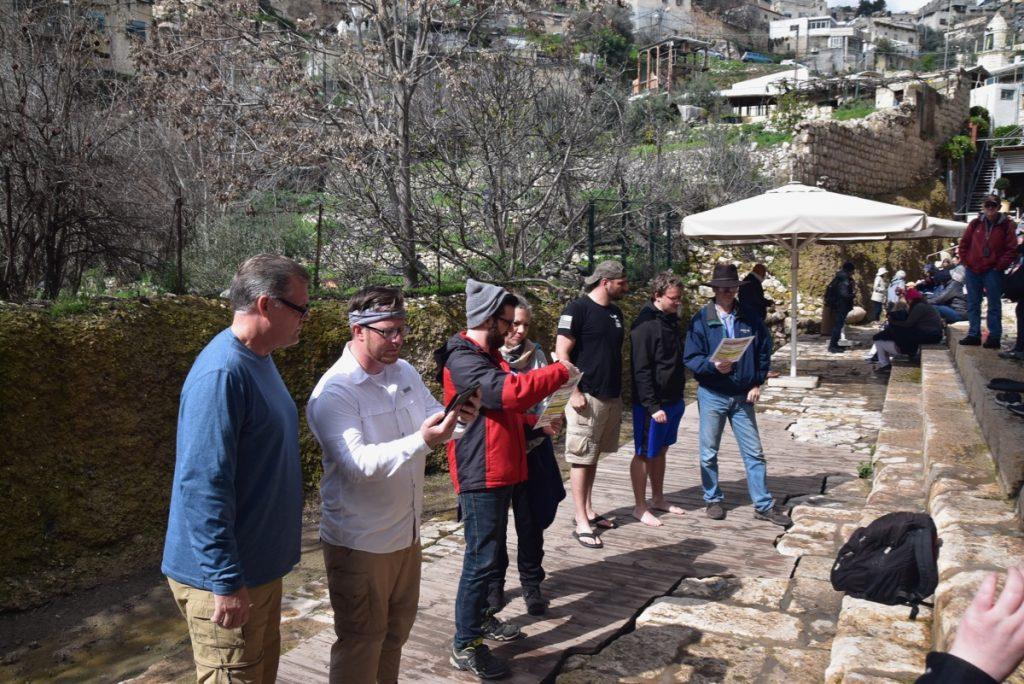 Siloam Pool Tunnel Feb 2020 Israel Tour with John DeLancey BIMT