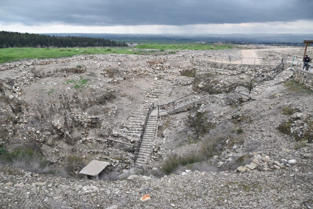 Megiddo tombs Feb 2020 Israel Tour with Egypt John DeLancey