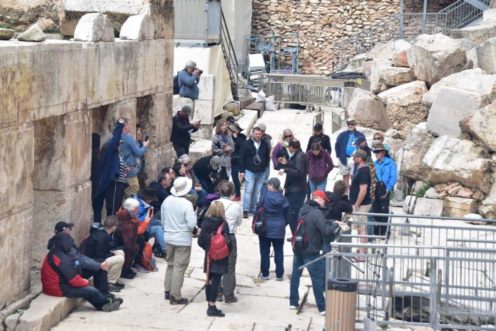 Jerusalem Feb 2020 Israel Tour Group, with John DeLancey