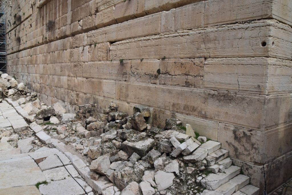 Southwall excavations Feb 2020 Israel Tour with John DeLancey BIMT