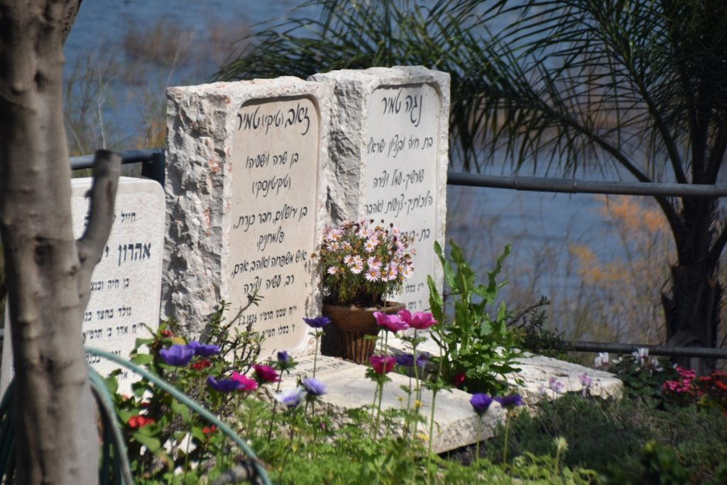 Kinneret cemetery Feb 2020 Israel Tour with John DeLancey