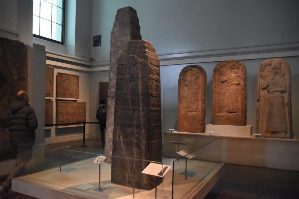 Shalmaneser II Black Obelisk British Museum Feb 2020 Israel Tour with John DeLancey