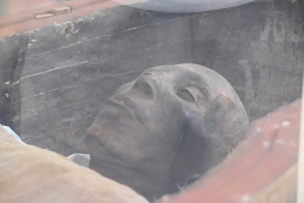 Egypt Museum mummy Feb 2020 Israel Tour with John DeLancey