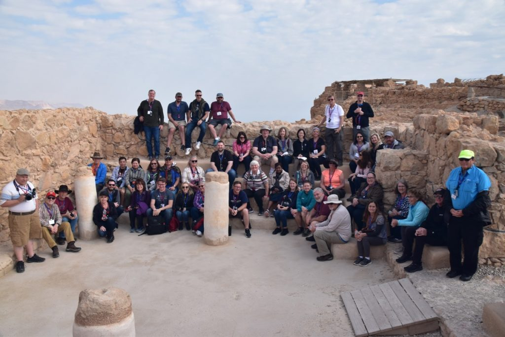 Masada Feb 2020 Israel Tour Group, with John DeLancey