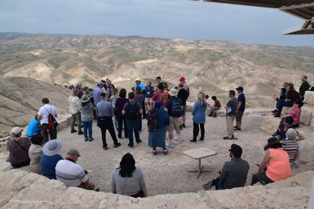 Wadi Qelt Feb 2020 Israel Tour Group, with John DeLancey