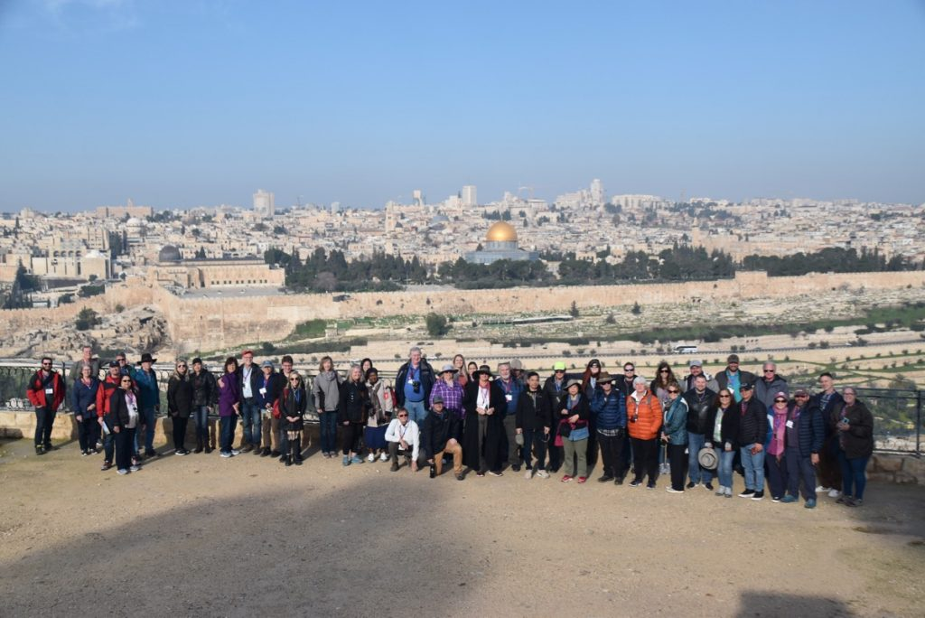 Jerusalem Feb 2020 Israel Tour Group, with John DeLancey