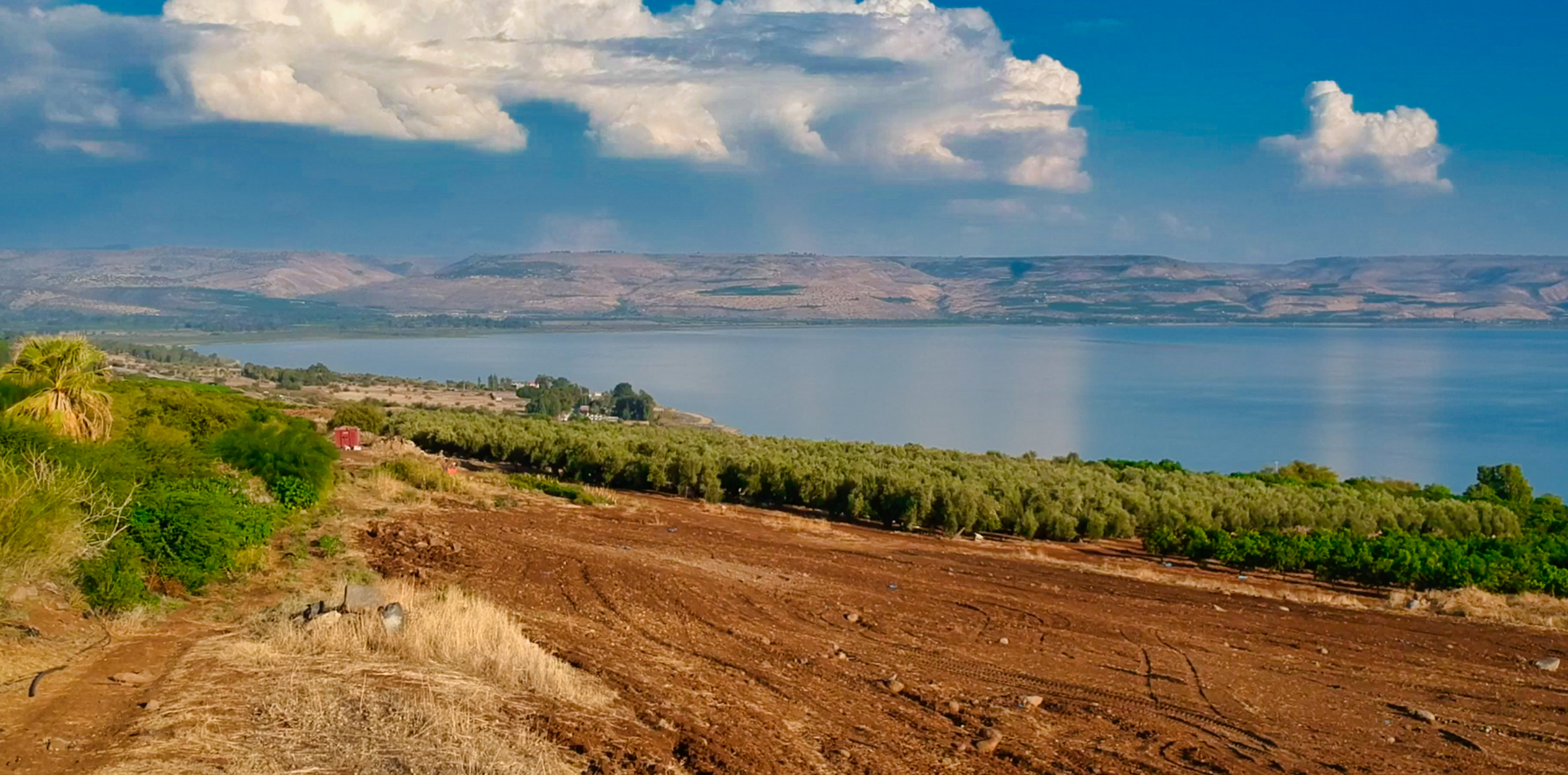 Drone pic of Sea of Galilee
