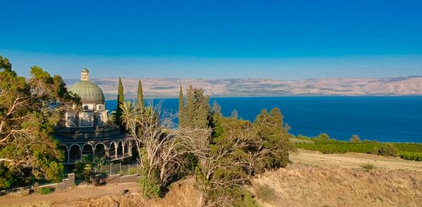 Drone of Mt. of Beatitudes