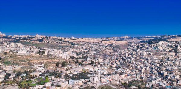 Drone pic of Jerusalem