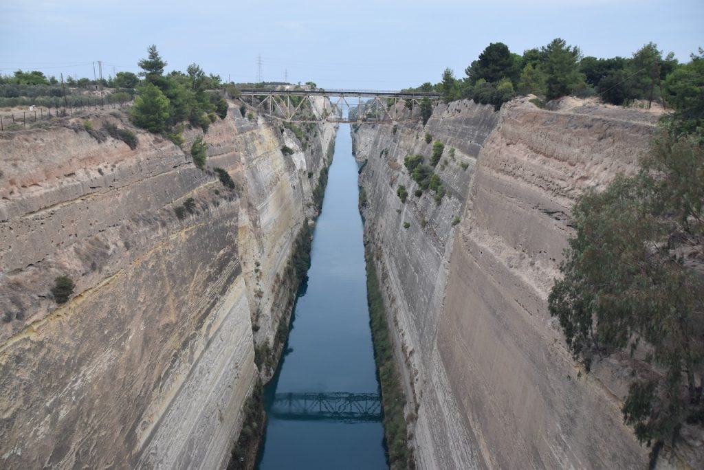 Corinth canal Sept 2021 Greece Tour with John DeLancey