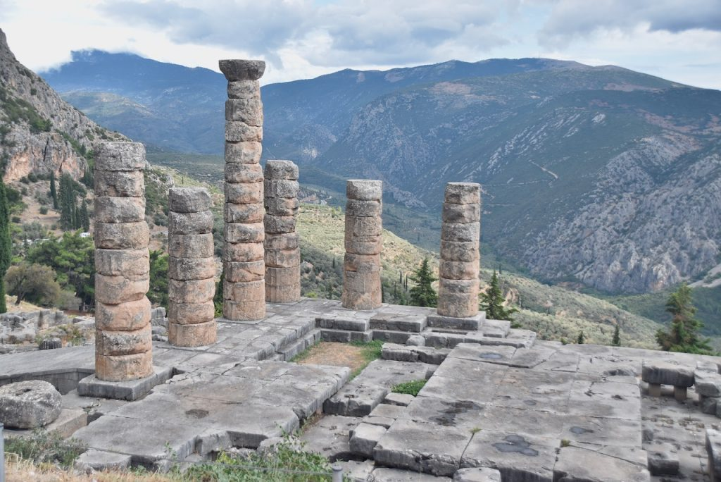 Temple of Apollo Delphi Greece Tour 2021 Dr. John DeLancey