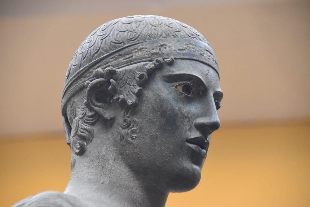 Bronze rider Delphi Greece Tour 2021 Dr. John DeLancey